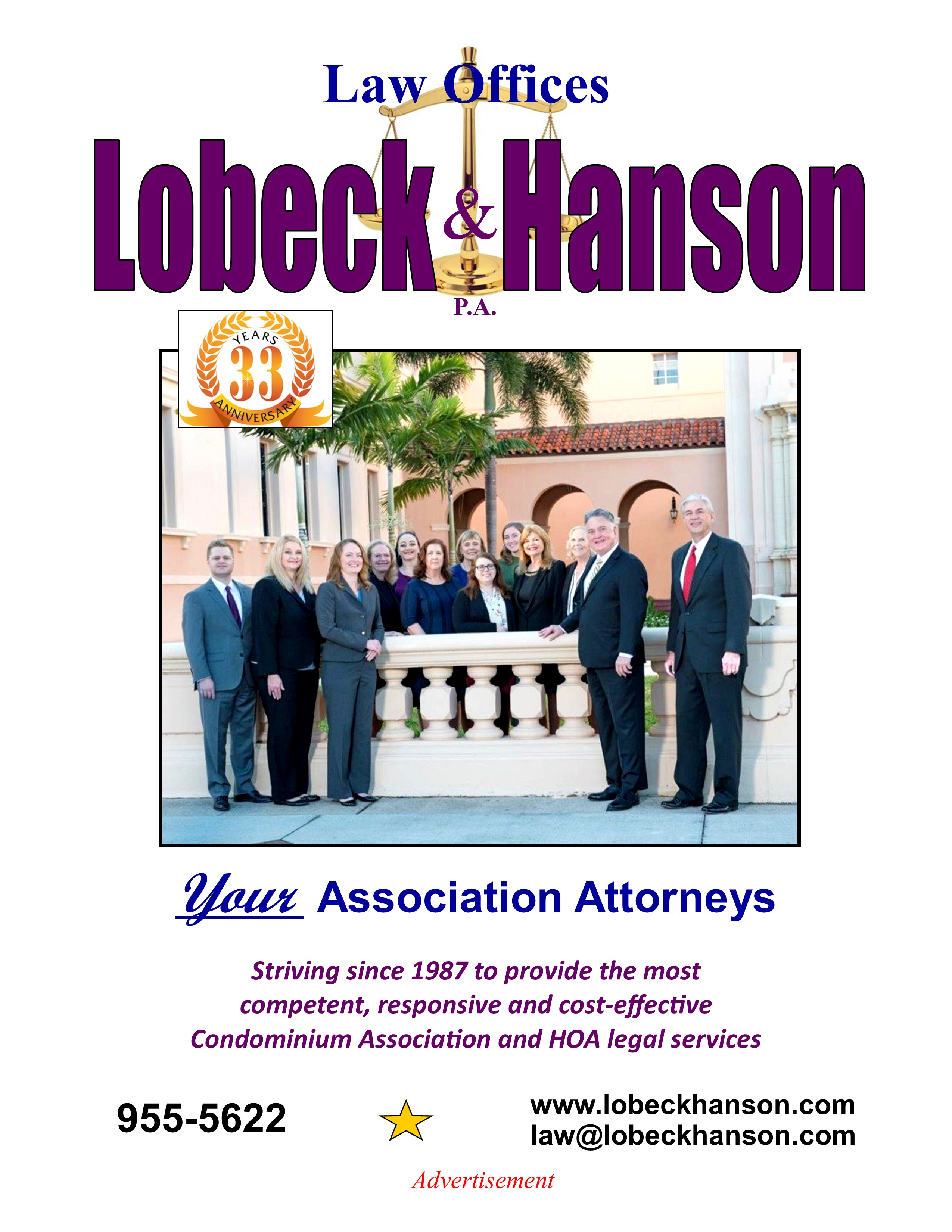 For Information About Lobeck & Hanson